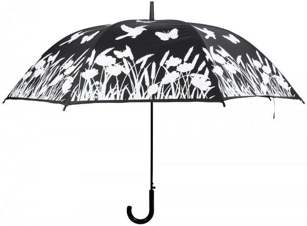 Image of Regenschirm Blumenwiese Farbwechsel bei Regen Stockschirm