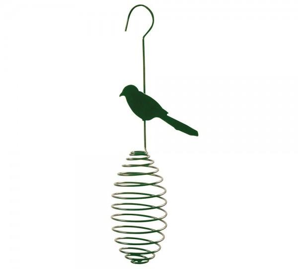 Vogelfutterspender zum Aufhängen Spirale für Meisenknödel Futterbälle Vogel Grün