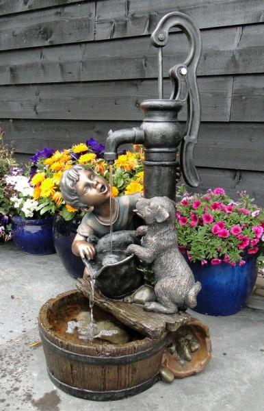 """Gartenbrunnen """"Regina"""" aus Polyresin, grau/braun (Kopie) Neckermann"""