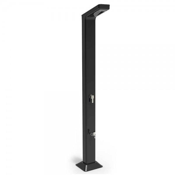 "*NEU*: Gartendusche ""Solaris Premium LED"" aus Metall, schwarz"