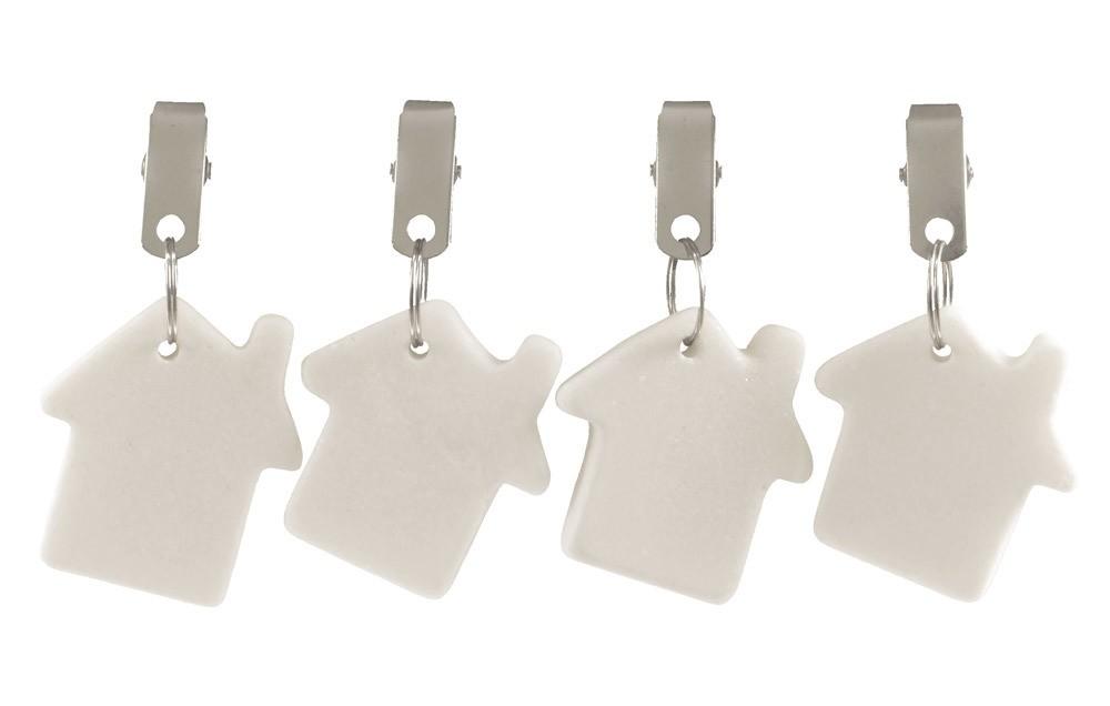 Tischdeckengewichte Haus Stein 4 Stück Tischdeckenbeschwerer Weiß ...