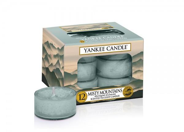 Yankee Candle Teelichte Misty Mountains 12 Stück   Dekoration > Kerzen und Kerzenständer > Teelichter   Baumwolle - Glas   Yankee Candle
