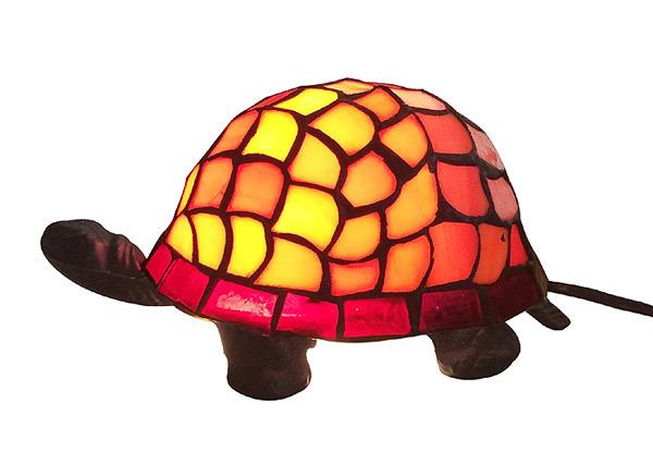 Tiffany leuchte schildkr te tiffanylampe tischlampe for Wohnen deko shop