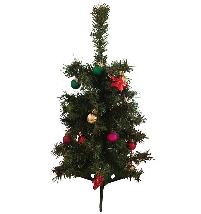 Weihnachtsbaum mit christbaumschmuck tannenbaum 45cm for Wohnen deko shop