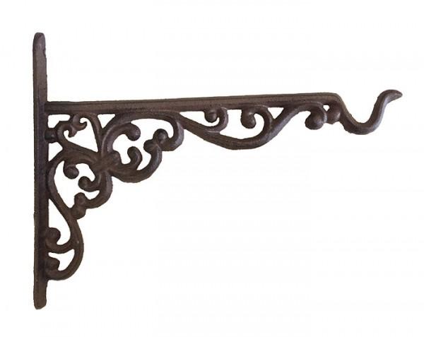 rustikaler wandhaken f r blumentopf blumenampel gusseisen antik braun 24cm kaufen. Black Bedroom Furniture Sets. Home Design Ideas