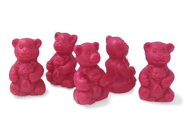 5 x Seife Bär Rot Himbeere (Bebe Ours Rouge Framboise) Kinderseife Tierseife ...