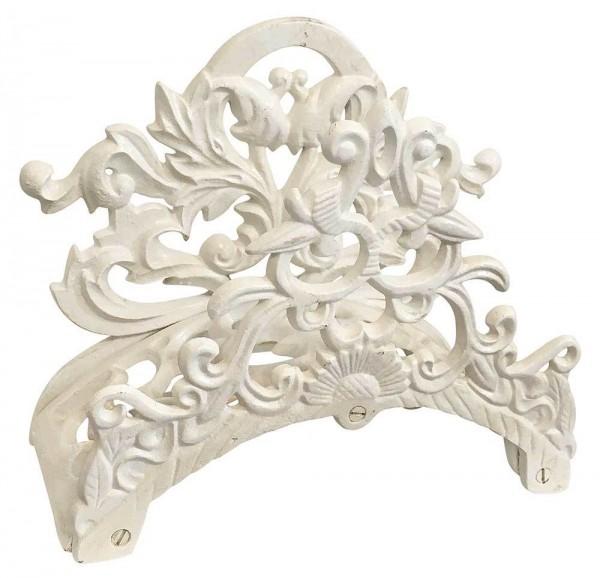 Gartenschlauchhalter Wandschlauchhalter Nostalgie Gusseisen Weiß Antik-Stil