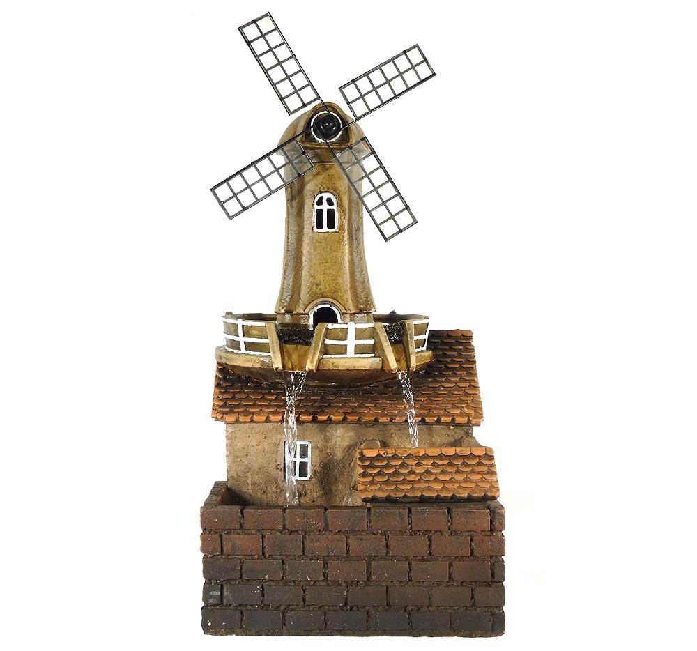 Ubbink Acqua Arte Windmühle Dutch Mill mit LED Beleuchtung & Wasserspiel 46cm