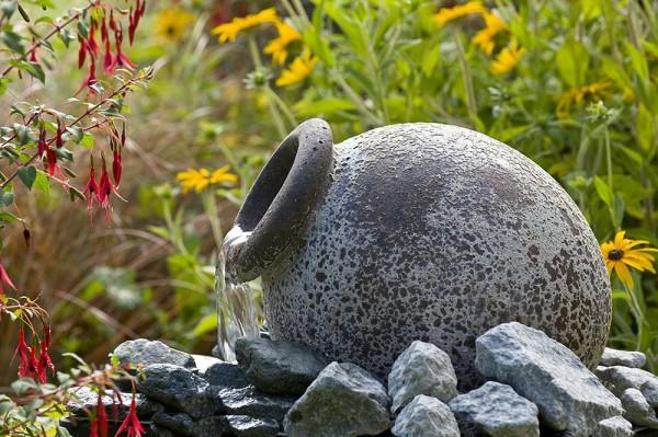 Ubbink AcquaArte Orange Amphore Antik-Look Gartenbrunnen Set Springbrunnen