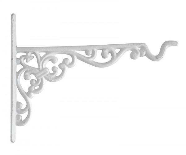 rustikaler wandhaken f r blumentopf blumenampel gusseisen wei kaufen. Black Bedroom Furniture Sets. Home Design Ideas